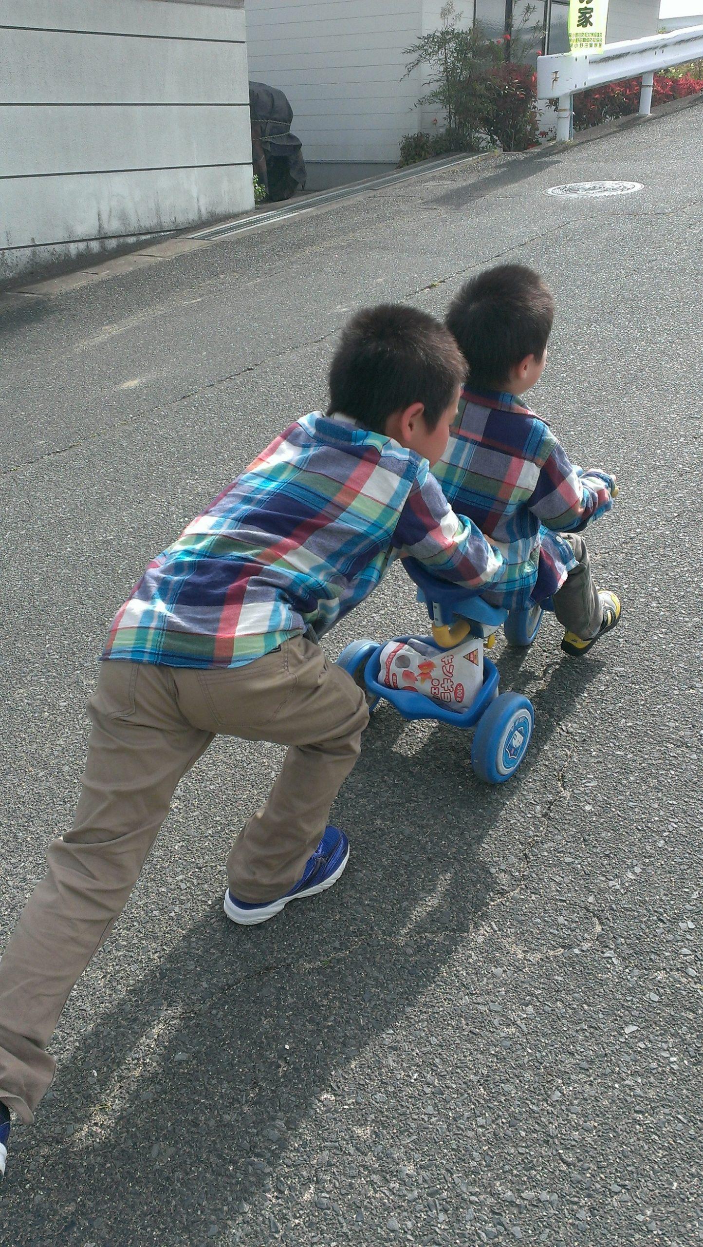 三輪車押し